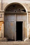 Old scraped door. Very old scraped door, gate in old building Royalty Free Stock Images