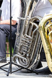Old scratch tuba Stock Image