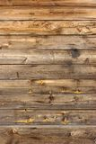 Old Scratched Brown Wood Panel Vertical Texture stock photography