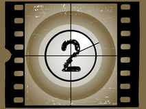 Old Scratched Film Countdown 2. Old Scratched Film Countdown at No 2 Royalty Free Stock Image