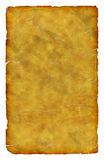 Old scratched grungy writing paper. Old scratched grungy isolated  writing paper - write on yellow background Stock Images