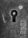 Old scratched lock keyhole Royalty Free Stock Photos