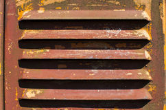 Old scratched paint and rust metal surface, air vent Stock Photo