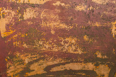 Old scratched paint and rust metal surface Royalty Free Stock Photos