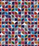 Old scratched and spotted mosaic seamless background, vector ret Royalty Free Stock Images