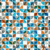 Old scratched and spotted mosaic seamless background, vector ret Royalty Free Stock Photos