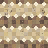 Old scratched and spotted mosaic seamless background. Royalty Free Stock Image