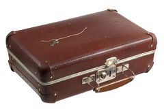 Old scratched suitcase Royalty Free Stock Photos