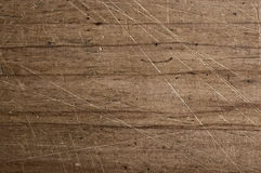 Old scratched surface. Old scratched wooden table surface Royalty Free Stock Photography