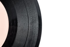 Old scratched vinyl record Royalty Free Stock Image