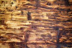 Old scratched wood board Stock Images