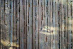 Old scratched wooden board background. Old scratched wooden board fence with lights and shadows Royalty Free Stock Photos