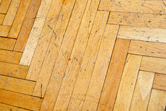 Old scratched wooden parquet Royalty Free Stock Photography