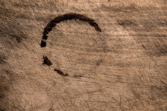 Old scratched wooden table. Royalty Free Stock Photos