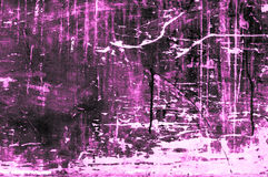 Old scratchy wooden board with colors and chalk mainly purple Royalty Free Stock Photos