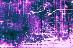 Old scratchy wooden board with colors and chalk mainly purplish-. Turquoise. Abstract, odd, artistic backgrounds with unconventional outcome. This image is part Stock Images