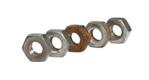 Old screw nuts Royalty Free Stock Photo