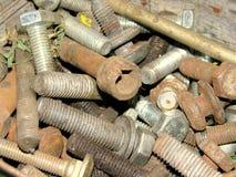 Old screws Royalty Free Stock Photos