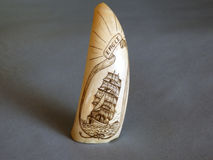 Old scrimshaw found on Bequia Royalty Free Stock Photos