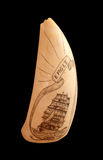 Old scrimshaw found on Bequia Royalty Free Stock Photography