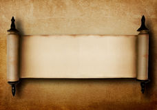 Old scroll. Vintage texture background with an old scroll Stock Photography