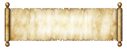 Old Scroll. Illustration of an old scroll Royalty Free Stock Photography