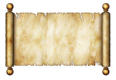 Old Scroll. Illustration of an old scroll Stock Photos