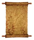Old scroll. Papyrus for your messages and designs with ornaments Royalty Free Stock Photos
