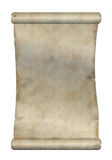 Old scroll. Old paper scroll on white background Stock Image