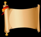 Old Scroll Banner. Illustration of old scroll banner Royalty Free Stock Images