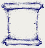 Old scroll. Doodle style. Vector illustration Stock Images
