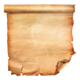 Old scroll paper. Isolated on white background stock illustration