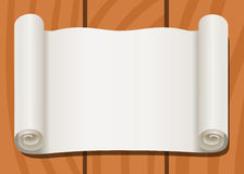 Old scroll paper glued to boards Stock Image