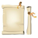 Old scroll Paper. Vector illustration Stock Photos