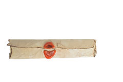 Old scroll with the seal Royalty Free Stock Images