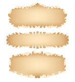 Old scroll set Royalty Free Stock Photography