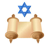 Old scroll with star of David Royalty Free Stock Photo