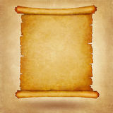 Old scroll vintage paper with space for text or image. Background vector illustration