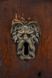 Old sculpted brass keyhole Royalty Free Stock Images