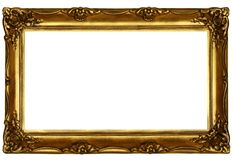 Old sculpted golden frame #2 Royalty Free Stock Image
