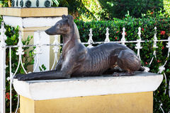 Old sculpture of a dog Stock Photography
