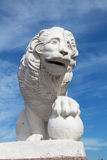 Old sculpture of a lion, St. Petersburg Stock Photography