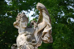 Old sculpture in park Stock Images