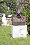 Old sculptures of Karl Marx and Leonid Brezhnev  in Muzeon Art Park (Fallen Monument Park) in Moscow Stock Photography