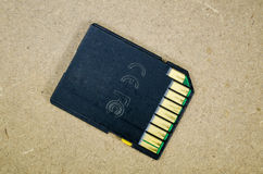Old SD memory card Stock Images