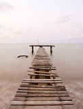 Old sea pier. In thailand Royalty Free Stock Images