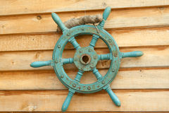 Old sea steering wheel Royalty Free Stock Photography