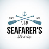 Old Seafarers Bait Shop Vintage Vector Logo Royalty Free Stock Photos