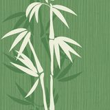 Old seamless bamboo pattern Royalty Free Stock Photography