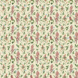 Old seamless repeat botanic floral pattern wallpaper Stock Photo